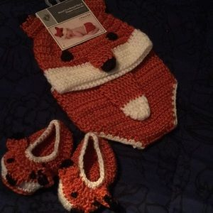 Hat and diaper cover and booties